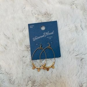 Dangle Gold Hoop Earrings